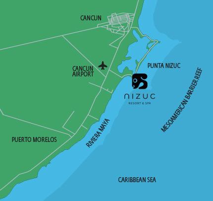 Nizuc Resort Spa Map Location