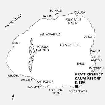 CruiseCenter Kehaha Map Of Kauai Hotels on