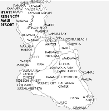Hyatt Regency Maui Resort And Spa Map Location