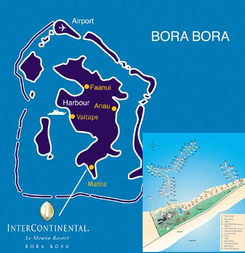 InterContinental Bora Bora Le Moana Resort - Map/Location